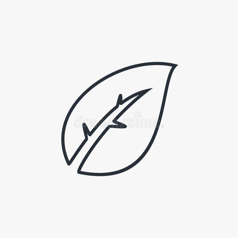 Green leaf outline logo illustration. Green leaf outline logo illustration for your company stock illustration