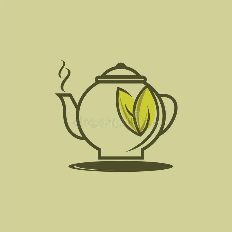 Herbal Green Tea Cup Logo Set , Herbal Drink Logo Stock
