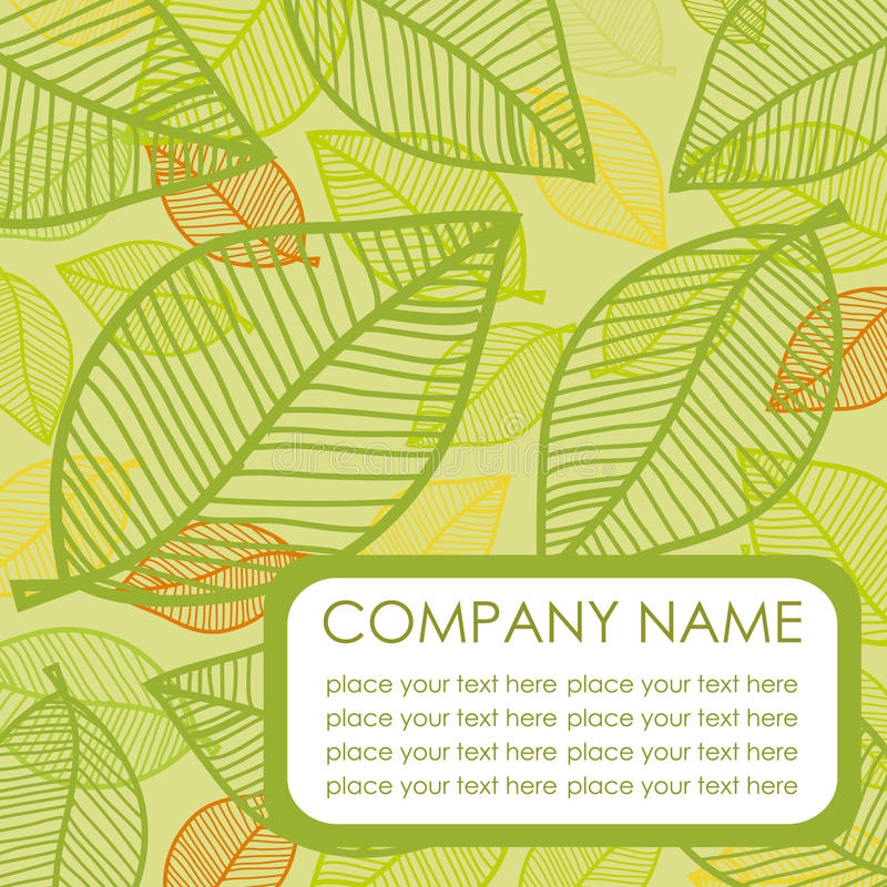 Download Green Leaf. Vector Background Stock Vector - Image: 15940346