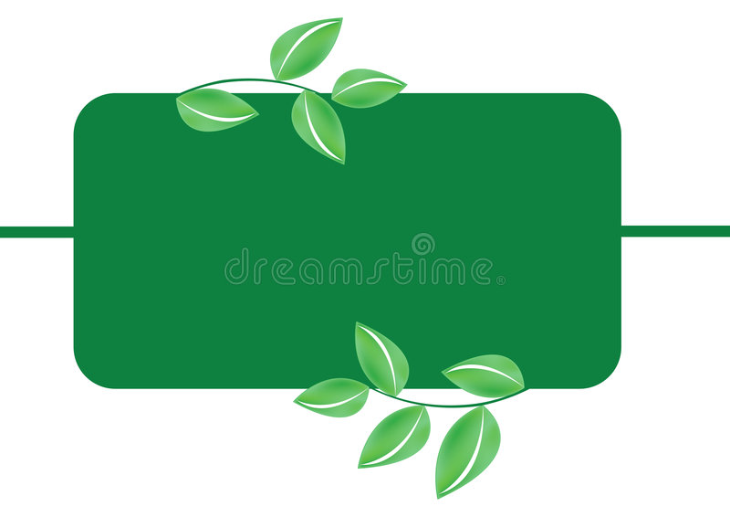 Download Green Leafs Banner - Vector Stock Vector - Image: 6317871