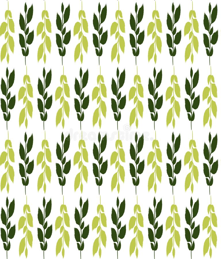 Green leafs seamless pattern . Usable for different purposes royalty free illustration