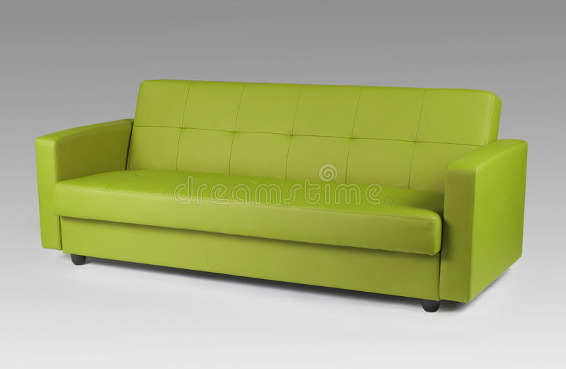 Download Green Leather Sofa Stock Photo. Image Of Lifestyle, Life   32662820