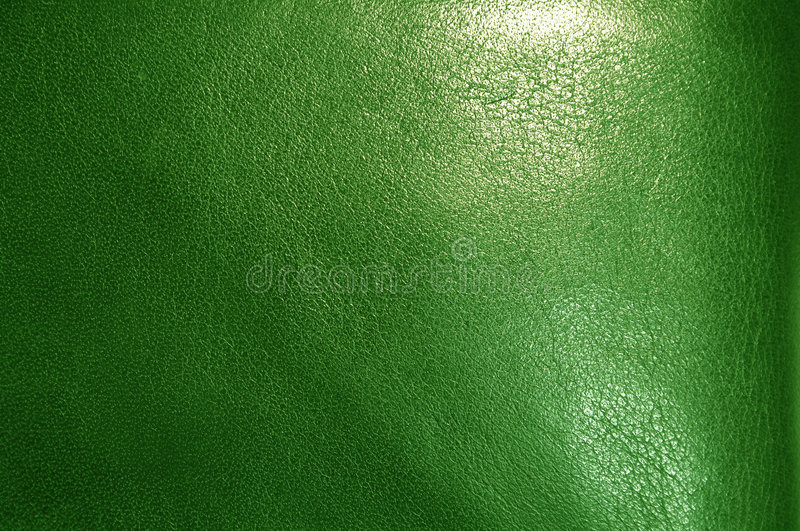 Green leather texture. A macro shot of a Green leather texture royalty free stock image