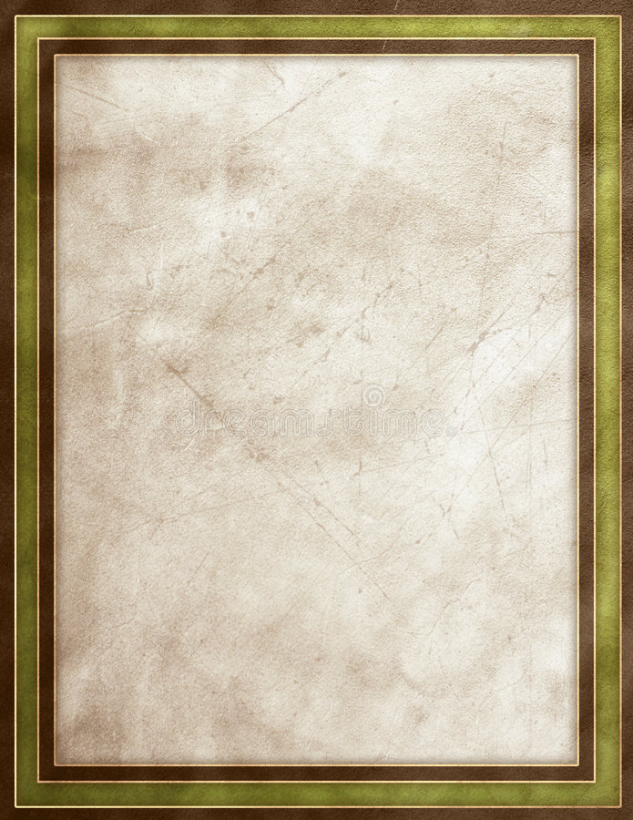 Green leather texture. Green, gold & beige leather texture frame royalty free illustration