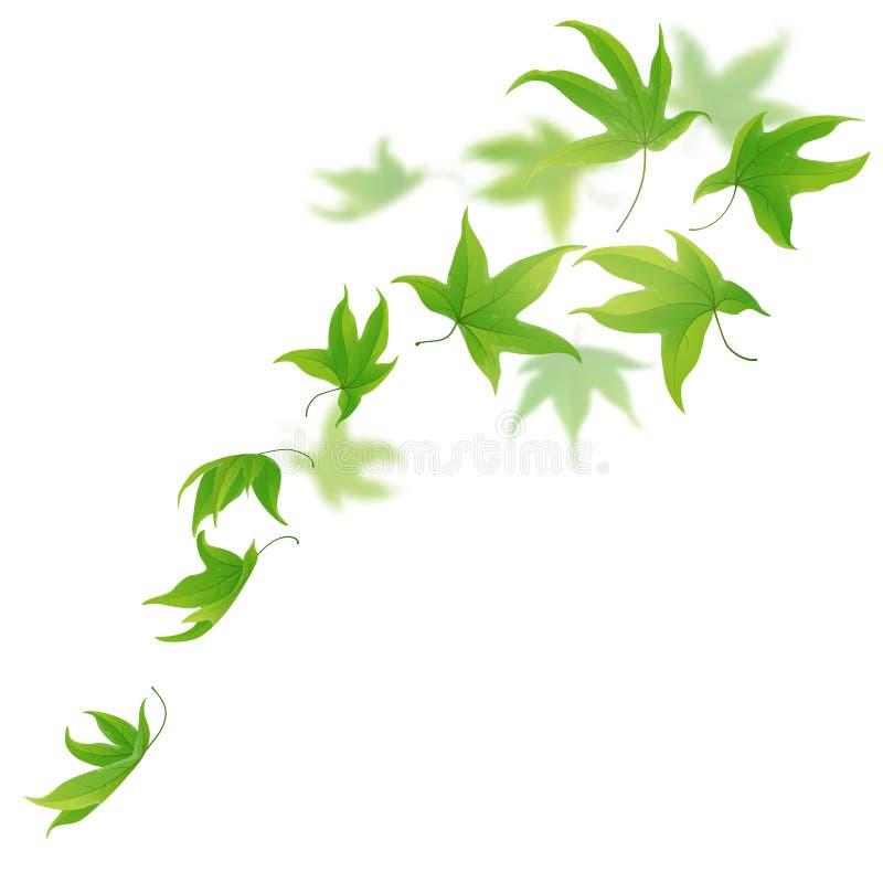 green leaves stock illustrationer