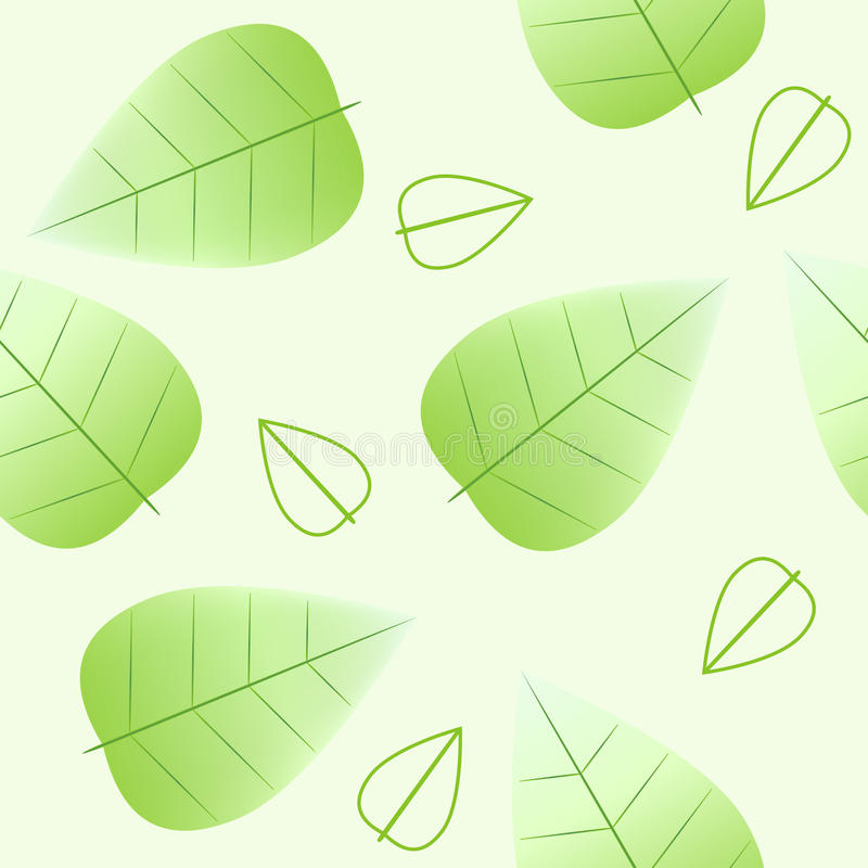 Download Green leaves  background stock vector. Image of light - 31594170