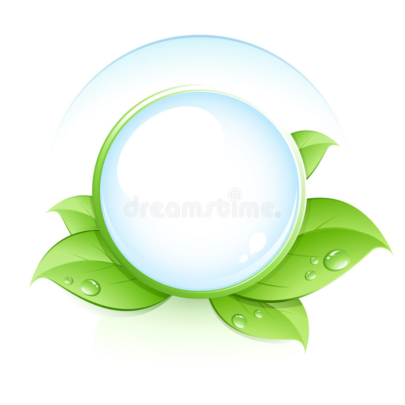 Green leaves concept stock illustration