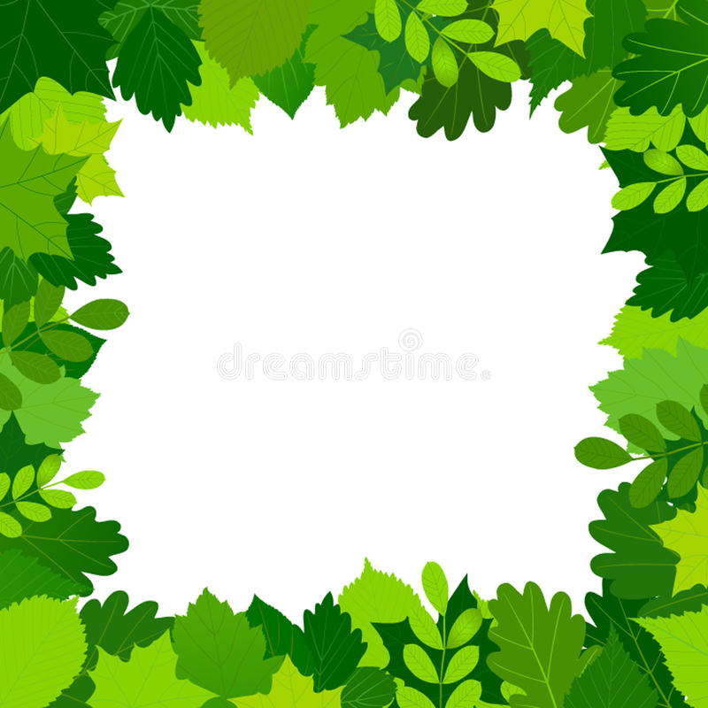 Download Green Leaves Frame Royalty Free Stock Photos - Image: 26698228