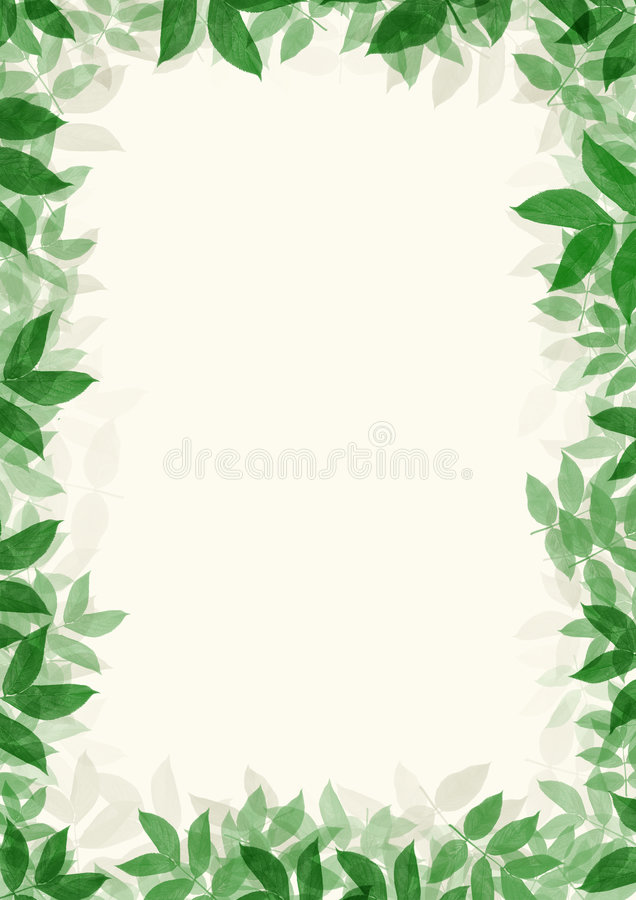 Green leaves frame royalty free stock photos