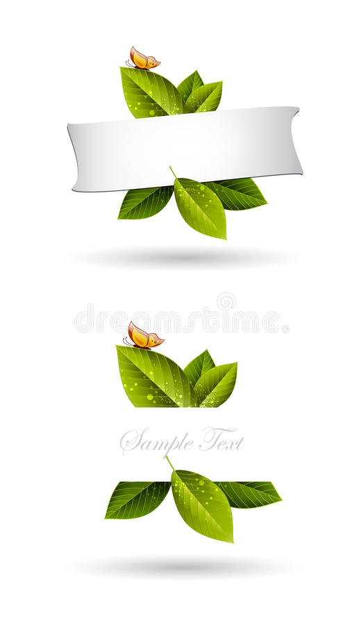 Green Leaves Frame Background Stock Photography
