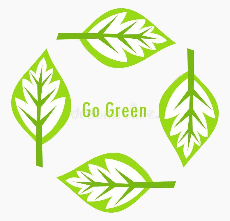 Green leaves stock illustration