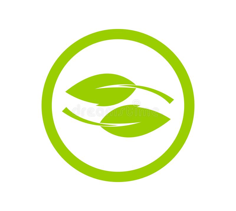 Green leaves  icon concept stock illustration