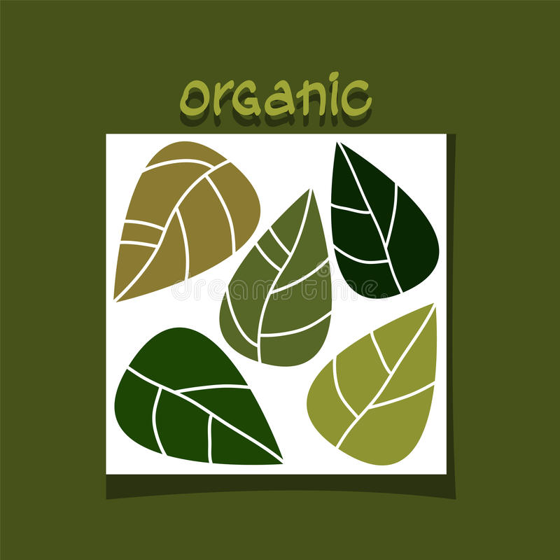 green leaves Organiskt begrepp stock illustrationer