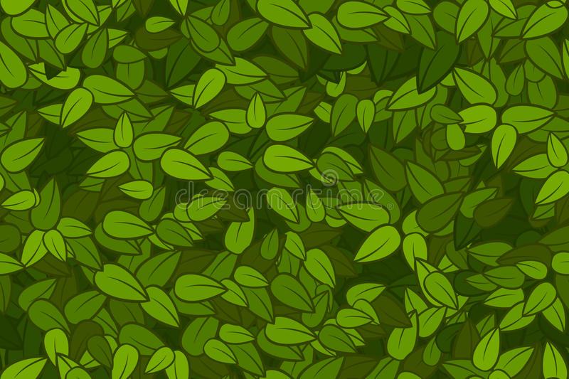 Green leaves seamless texture stock illustration