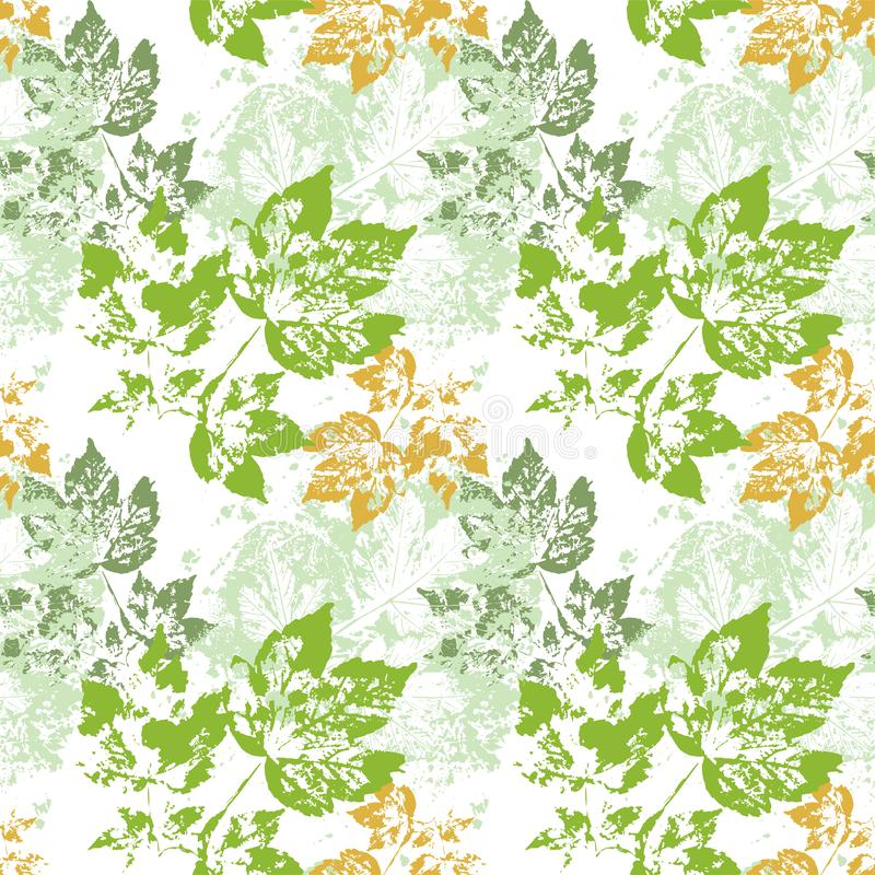 Green leaves vector pattern green transparent seamless stock illustration