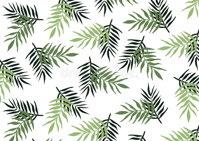 Download green leaves on white background natural element wallpaper backdrop stock vector illustration of