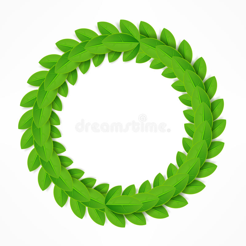 Free Green Leaves Wreath Royalty Free Stock Photography - 66281137