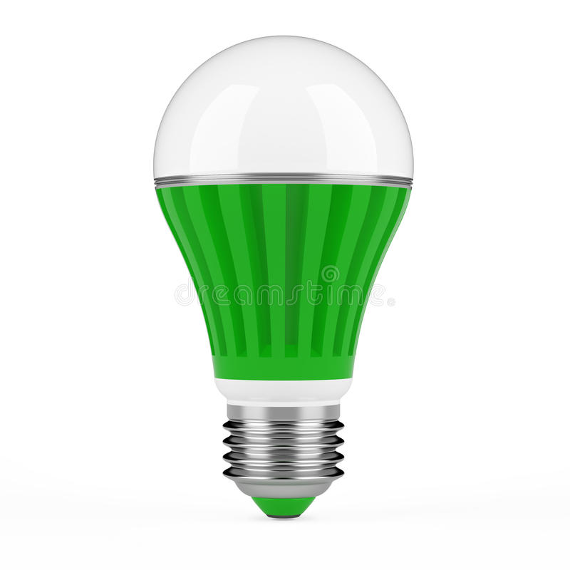 Green LED lamp stock illustration. Illustration of conservation ...