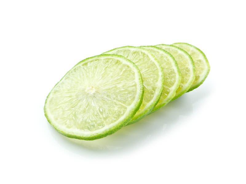 Green lemon slice stock image