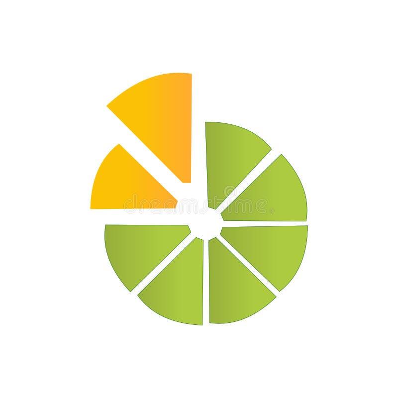 Green Lemon slice vector illustration logo design. Lemon slice vector illustration logo design green  yellow creative modern vector illustration