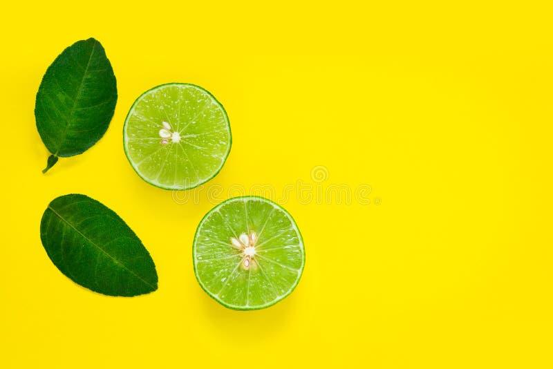 Green lemon yellow background.  stock photo