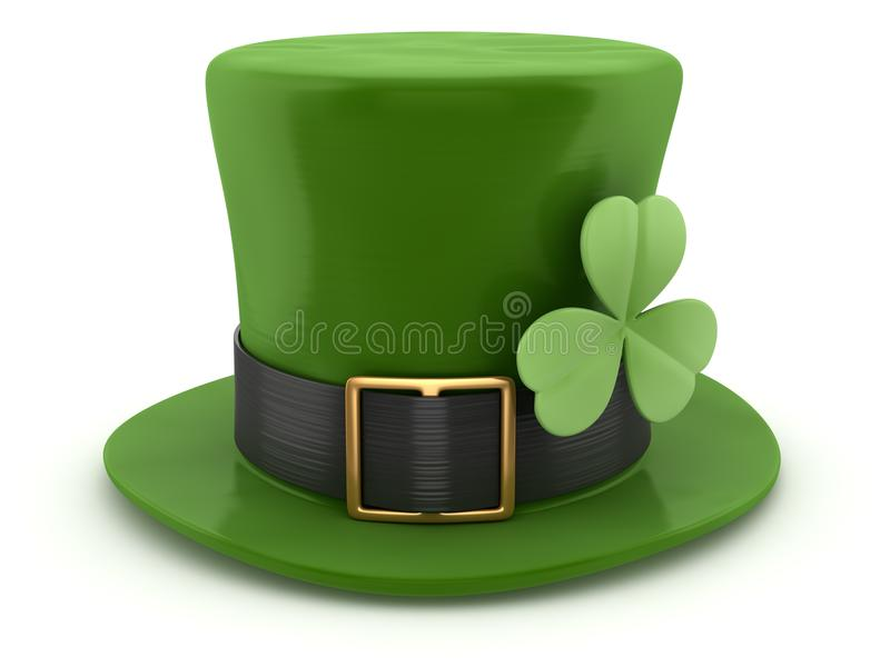 Green Leprechaun Hat vector illustration