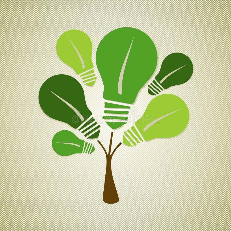 Green life tree illustration stock photography