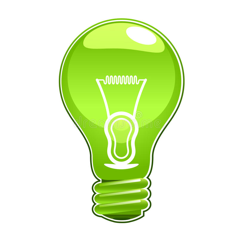 Free Green Light Bulb Royalty Free Stock Photography - 14772227