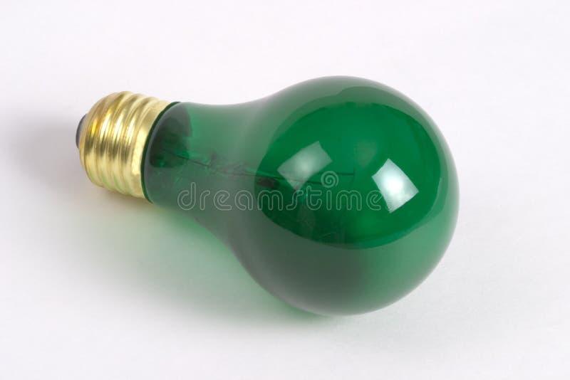 Green Light Bulb stock photos