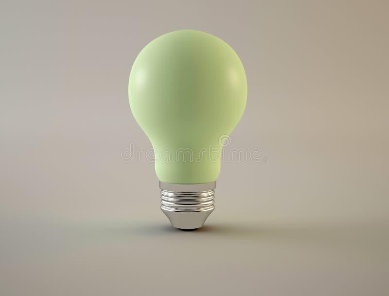 Green light bulc stock photography