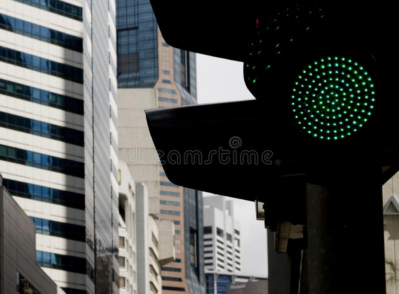 Green Light For Business Free Stock Images
