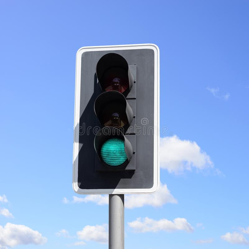 Important traffic sign for vehicles and pedestrians. royalty free stock photo
