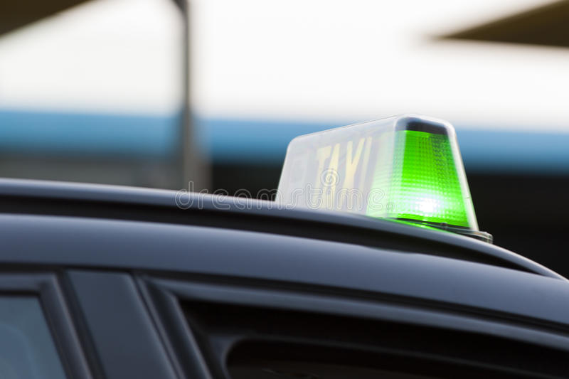 Download Green light on a taxi stock image. Image of available - 26621441