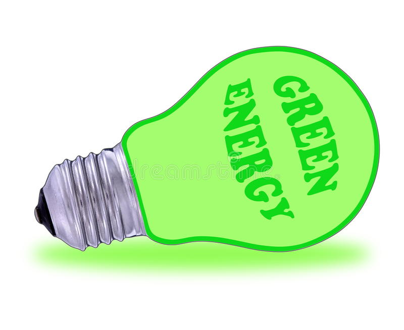 Download Green lightbulb stock illustration. Illustration of cost - 27626468