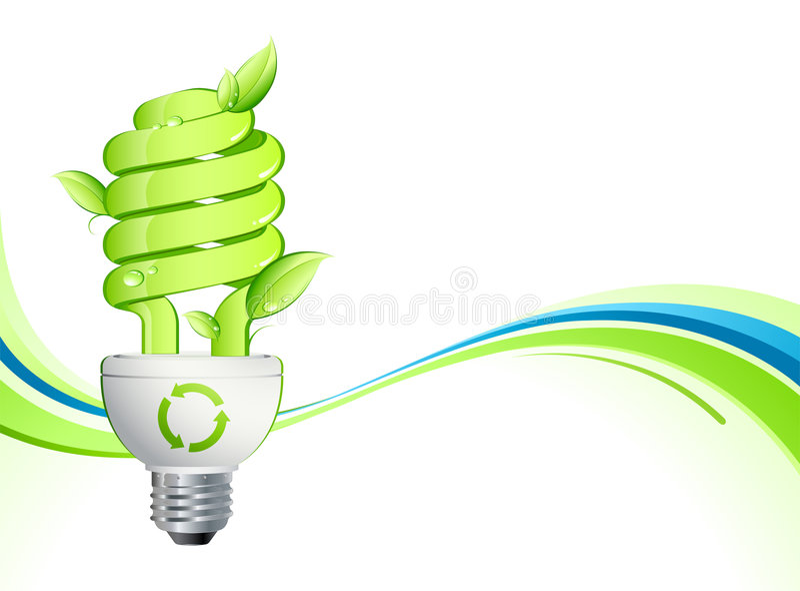 Download Green lightbulb stock vector. Image of environment, environmental - 7492010