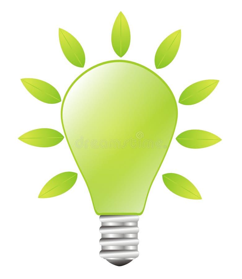 Green Lightbulb - Green Energy Concept Royalty Free Stock Photo