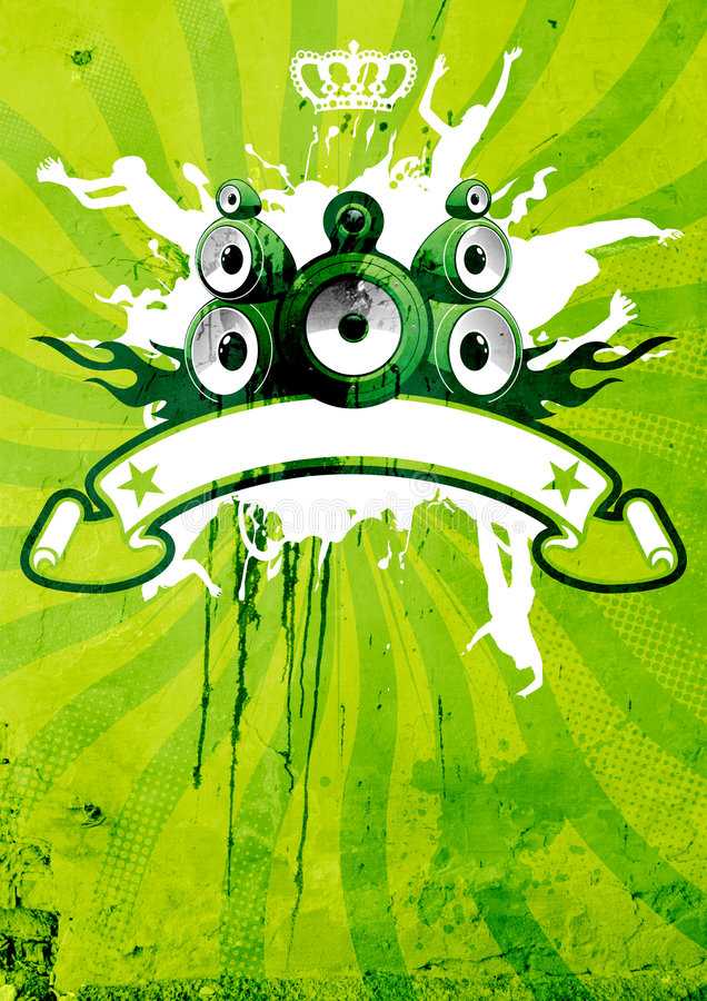 Download Green And Lime Retro Poster Stock Illustration - Image: 6333821