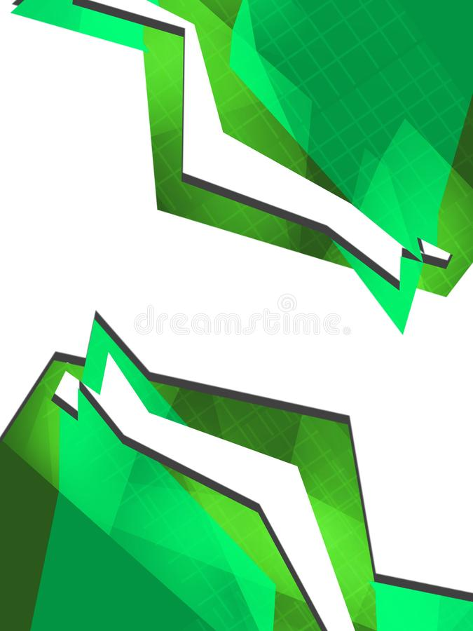 Green lined border abstract background stock illustration