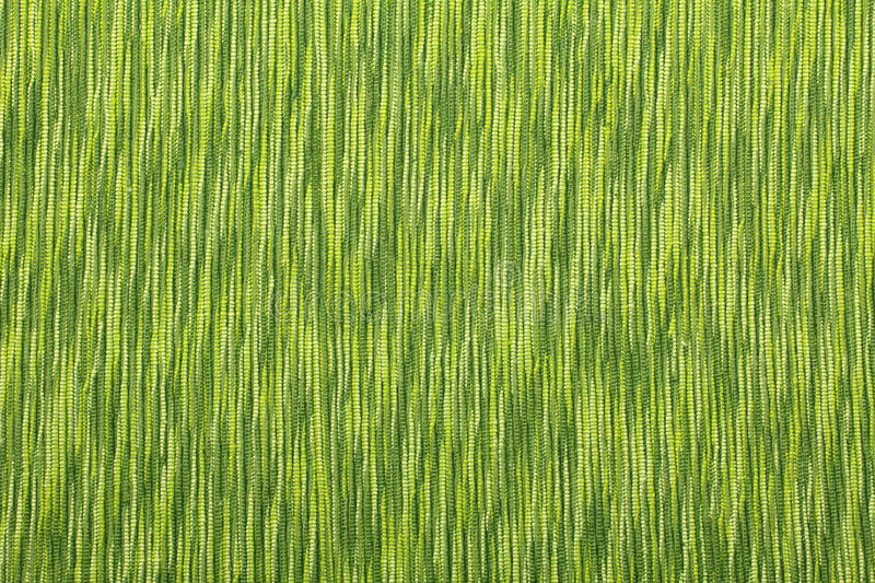 Green linen texture of background stock image