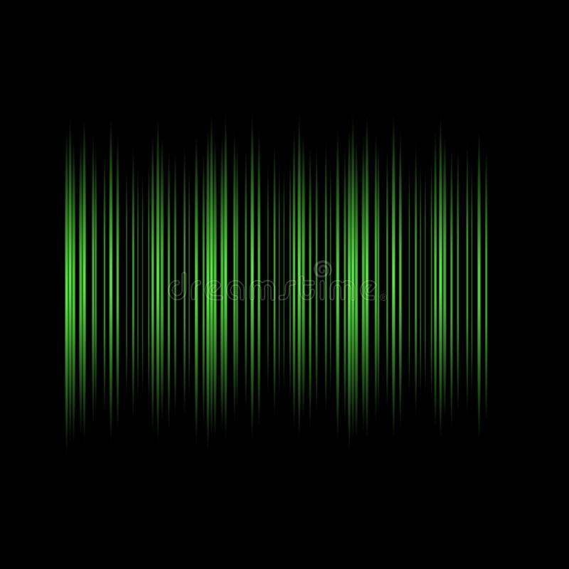 Green lights Lines on Black Background Abstract Design Modern Technology Vector royalty free illustration