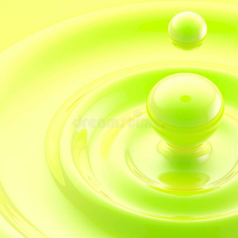 Download Green Liquid Drop Abstract Background Royalty Free Stock Images - Image: 25329769