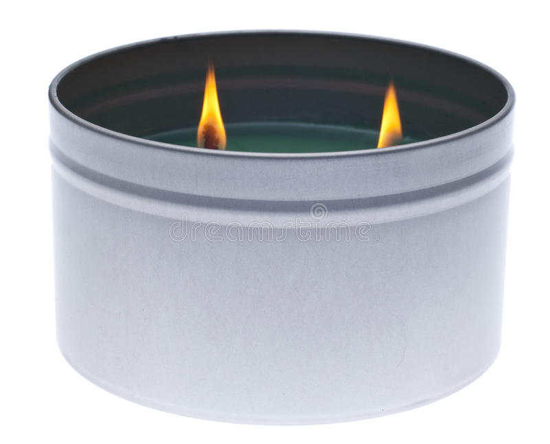 Download Green Lit Holiday Candle Stock Photography - Image: 17013592