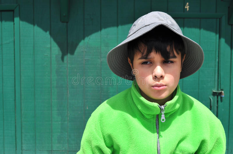 Download Green Little Brain stock photo. Image of portrait, expressions - 26137416