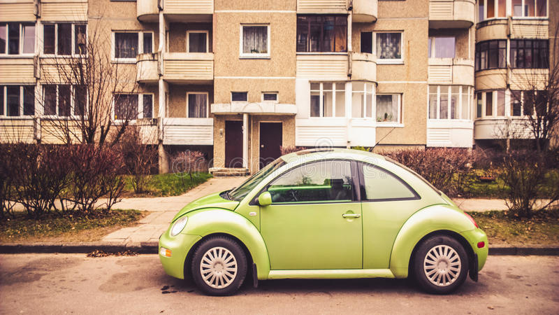 Green little car royalty free stock photos
