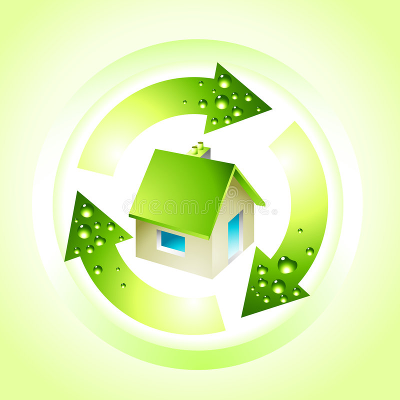 Green Living Home vector illustration