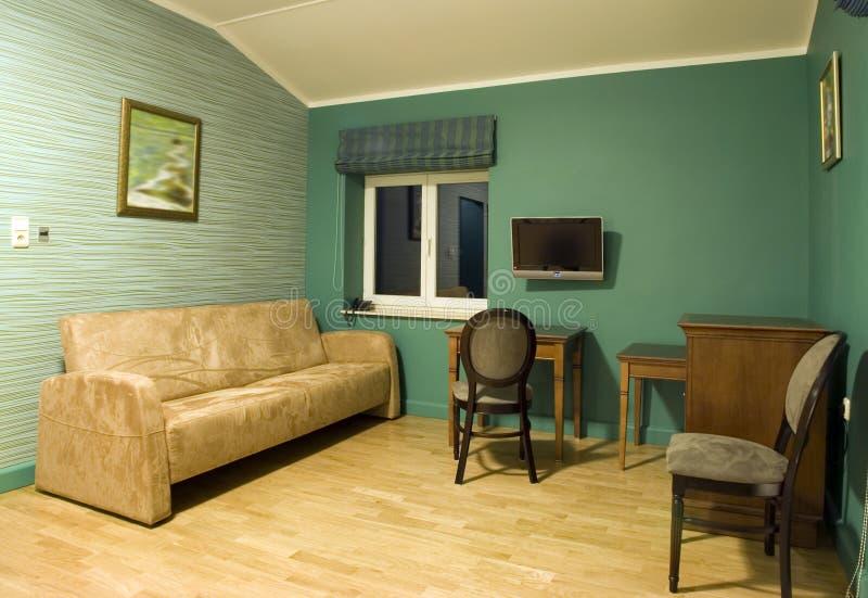 Green living room royalty free stock photos