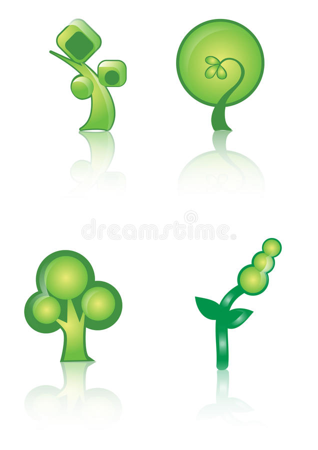 Download Green logo icon stock illustration. Image of natural - 19900674