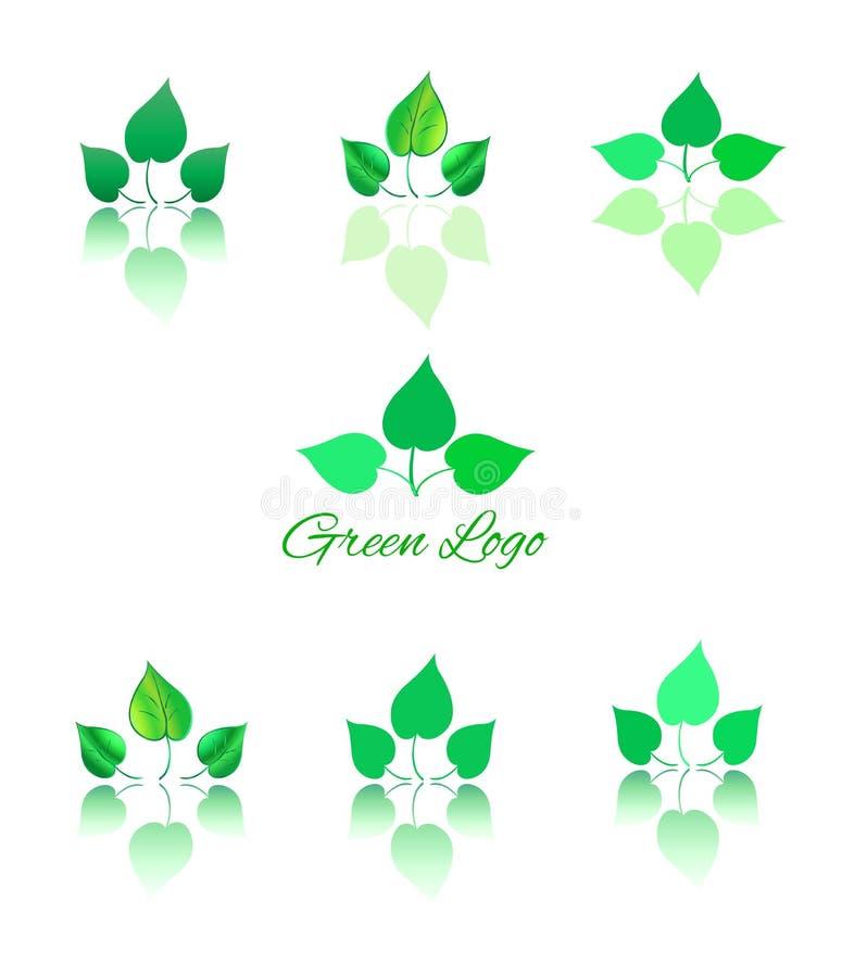 Green logo and icon stock illustration
