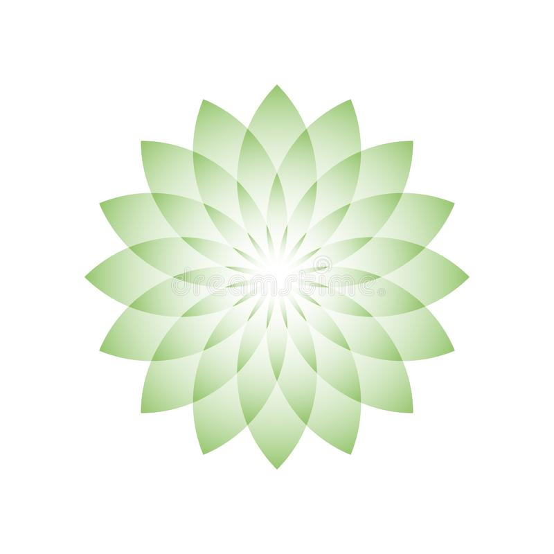 Free Green Lotus Flower - Symbol Of Yoga, Wellness, Beauty And Spa. Vector Illustration Royalty Free Stock Photos - 107753528