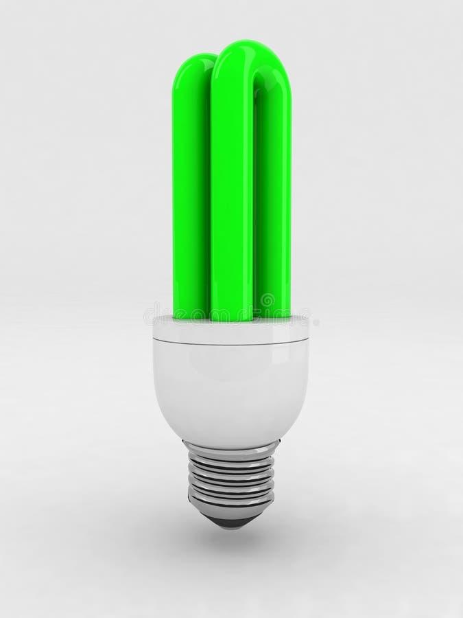 Download Green Luminescent Light Bulb Stock Illustration - Image: 17121047